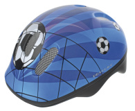 Hjälm fotbollar blå 52-56 cm