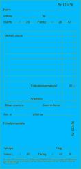 Arbetskort Blå 200 st/block