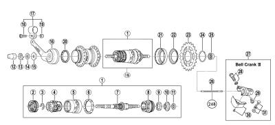 Låsmutter SG3C 5mm 175mm vänster