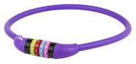 Kombinationslås lila siliconhölje 12 x 650mm